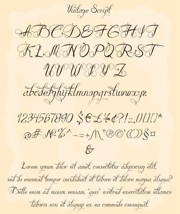 Vintage Script - Calligraphy Script