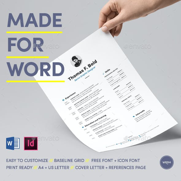 Clean Resume Made for Word