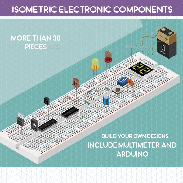 Isometric Electronic Components