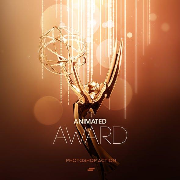 Gif Animated Award Effect Photoshop Action