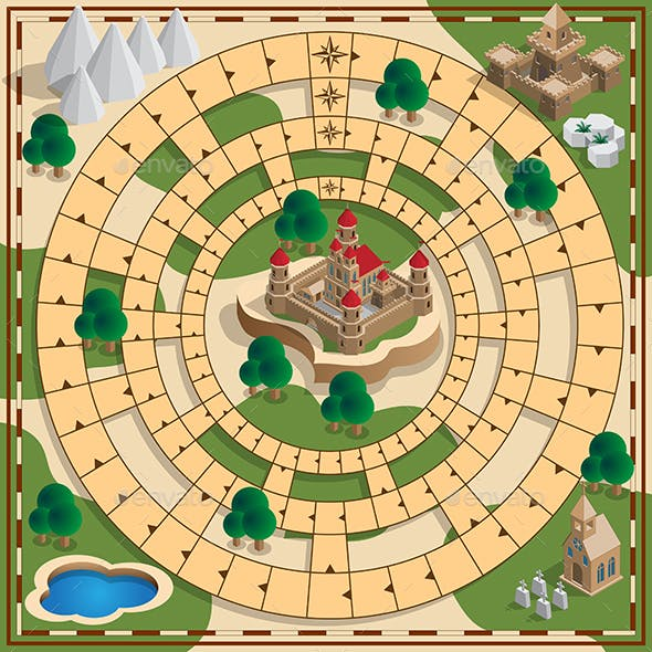 Board Game of the Medieval Theme