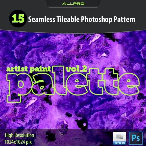 Artist Paint Palette Vol.2 Photoshop Pattern