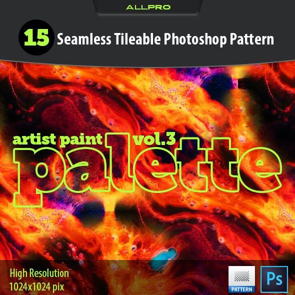 Artist Paint Palette Vol.3 Photoshop Pattern