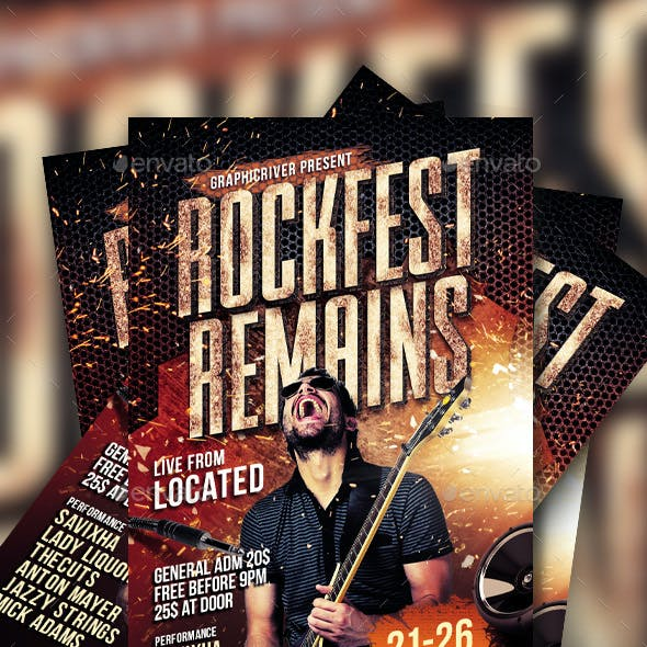 Rock Music Flyer