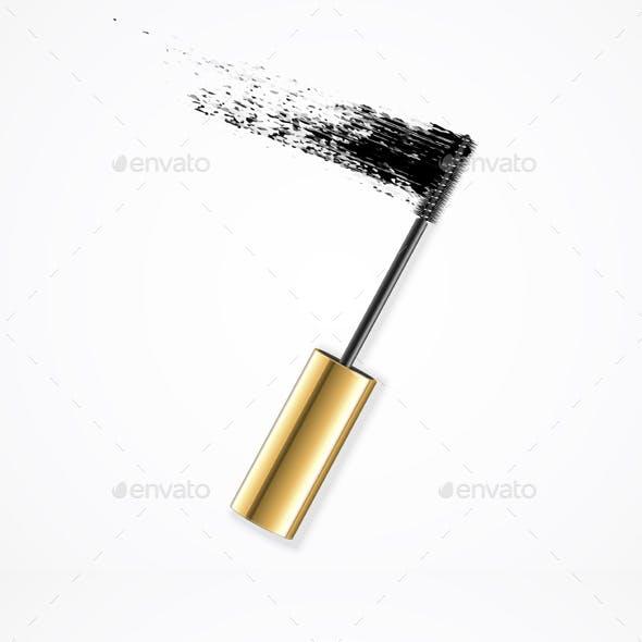Realistic Mascara Brush Strokes