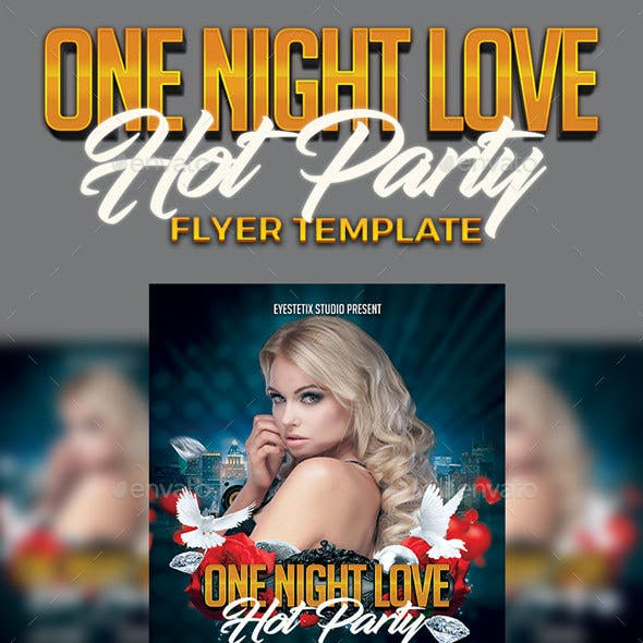 One Night Love Hot Party Flyer