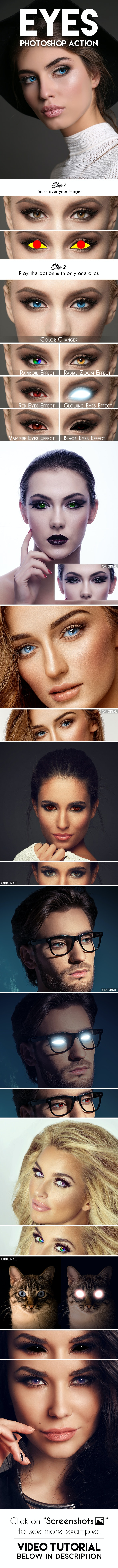 Eyes Photoshop Action - Photo Effects Actions