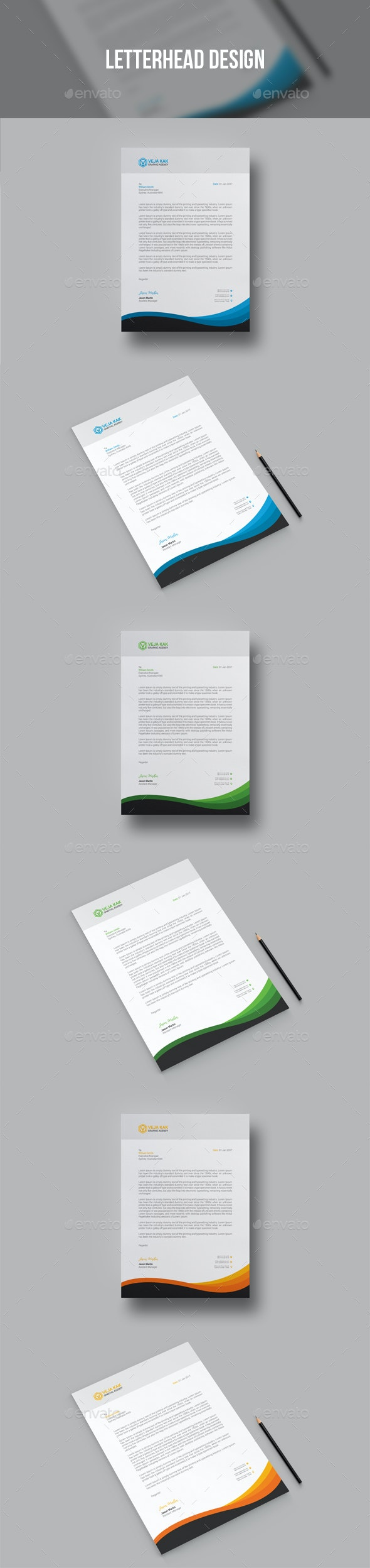 Letterhead Design - Stationery Print Templates