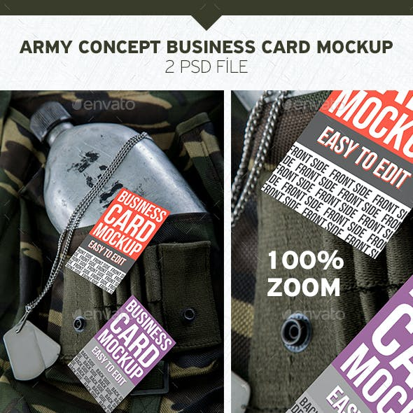 Army Concept Business Card Mockup