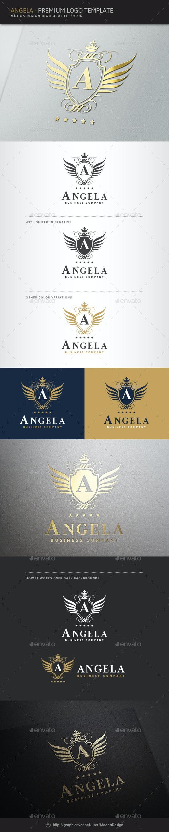 Angela Logo - Crests Logo Templates