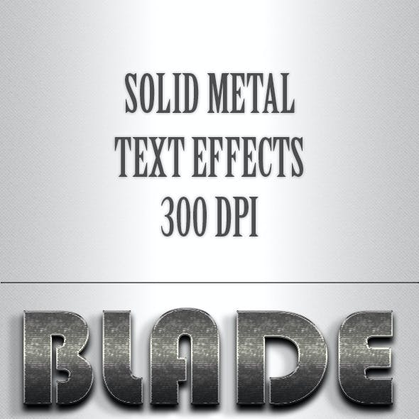 Solid Metal Text Effects