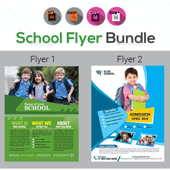 School Flyers Template Bundle