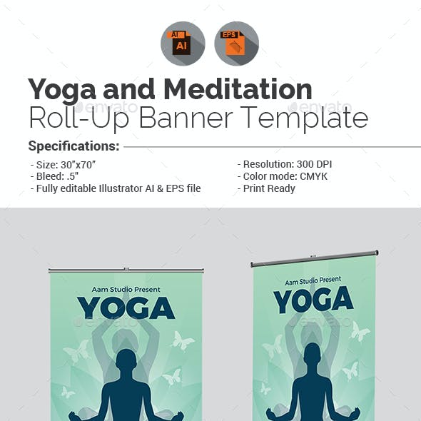 Yoga Roll-Up Banner Template