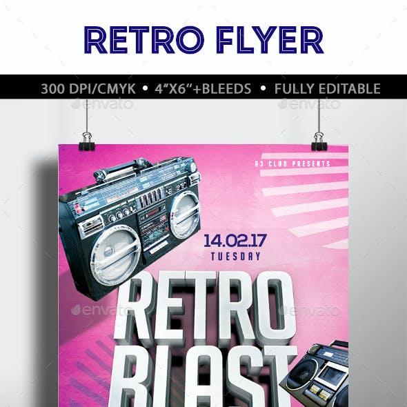 Retro Blast Flyer