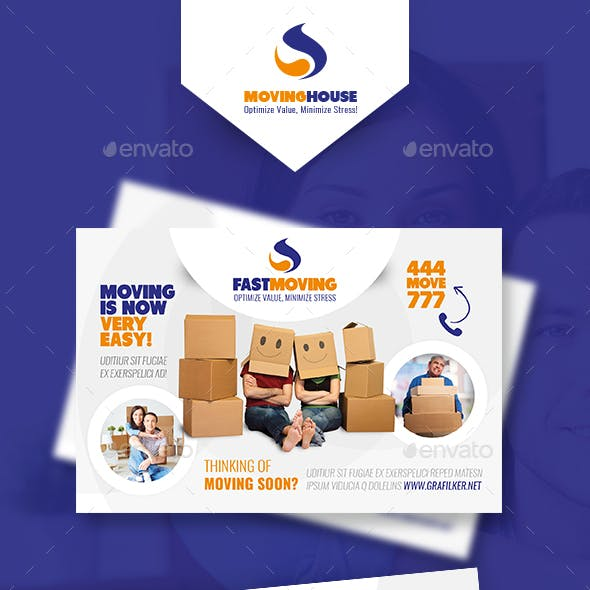 Moving House Postcard Templates
