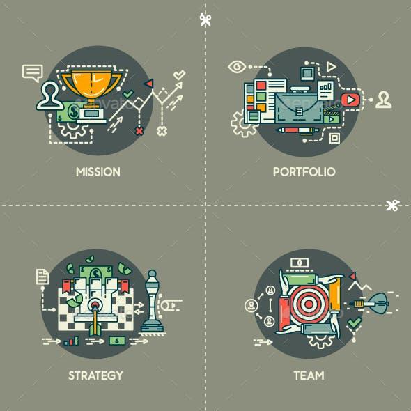 Mission, Portfolio, Strategy, Team