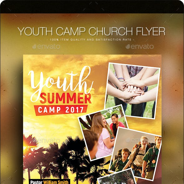 Youth Camp - Church Flyer Template