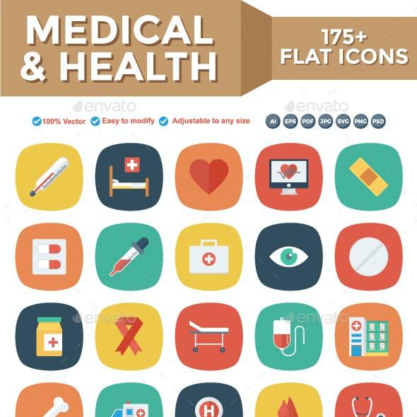 Medical & Health Flat Square