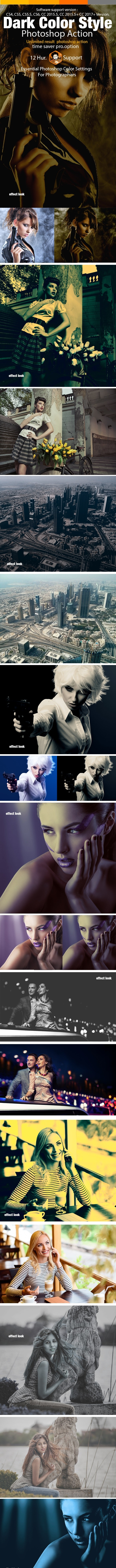 Dark Color Style Action - Actions Photoshop