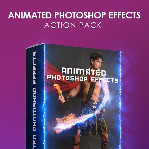 Animated Photoshop Effects Action Pack