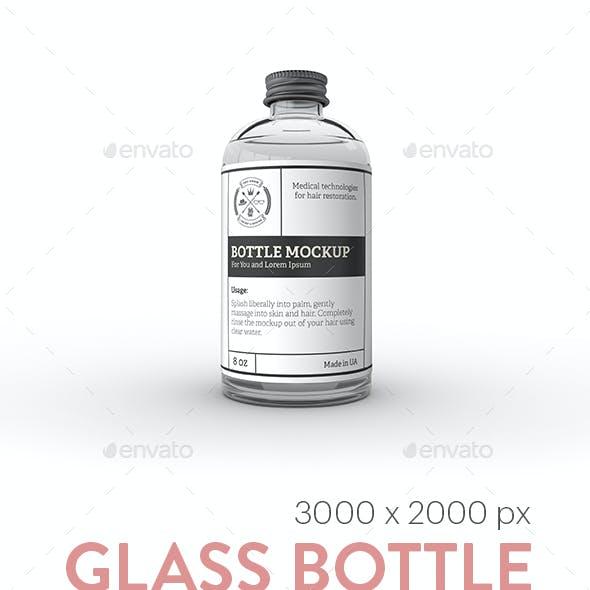 Glass Bottle Label MockUp