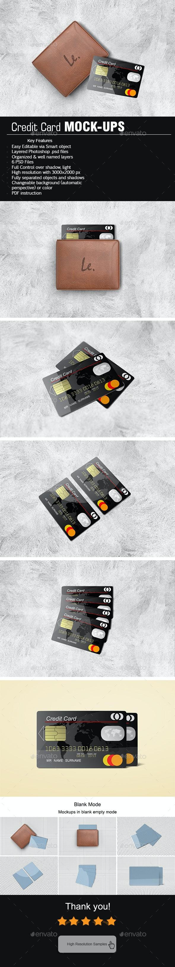 Credit Card Mock-Ups - Product Mock-Ups Graphics