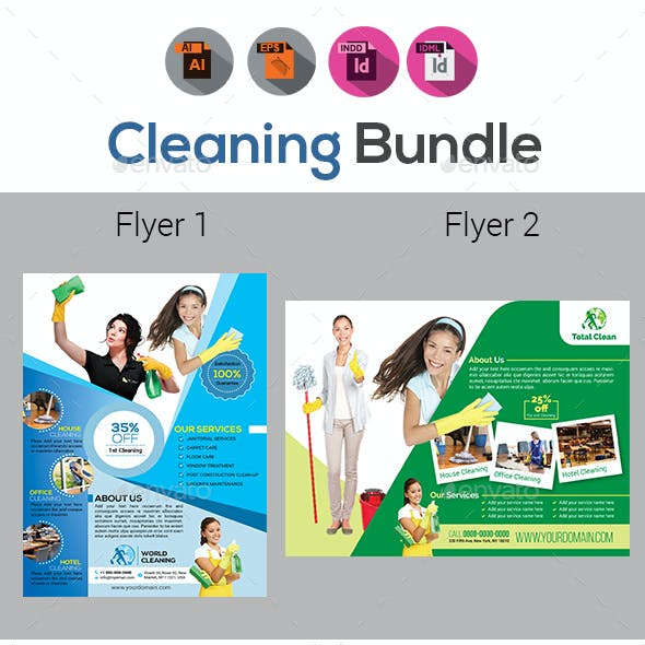 Cleaning Service Flyers Templates