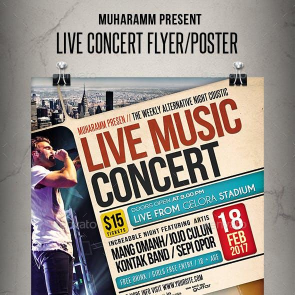 Live Concert Flyer / Poster
