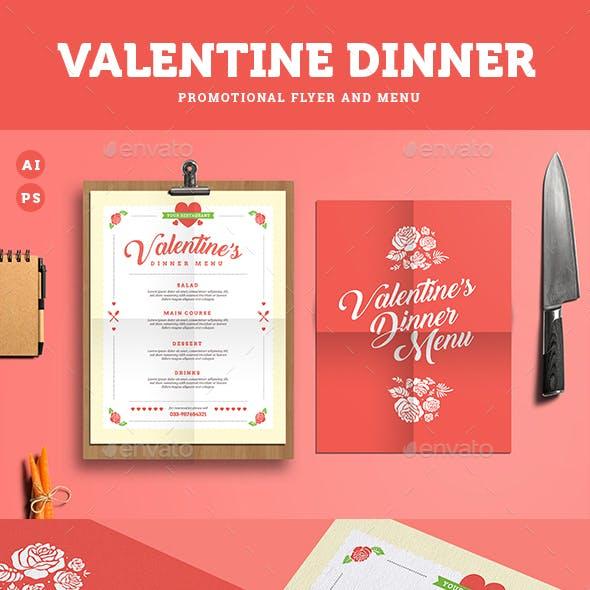 Valentine Diner Menu