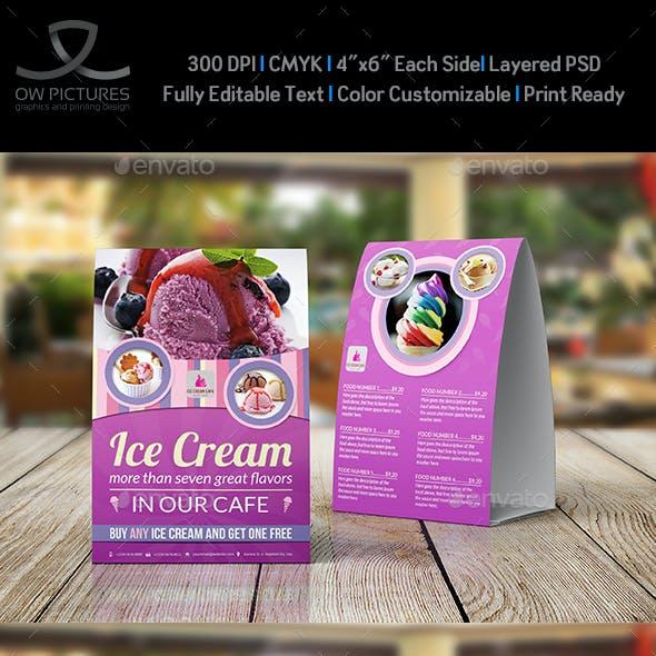 Ice Cream Table Tent Template Vol.5