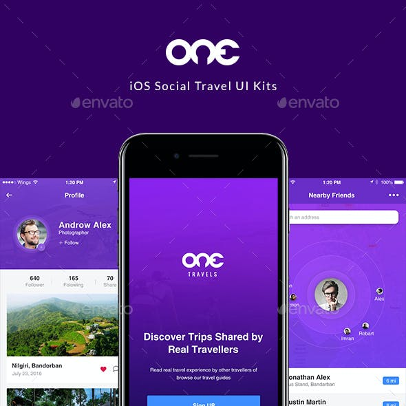 Travel Social App UI Kit