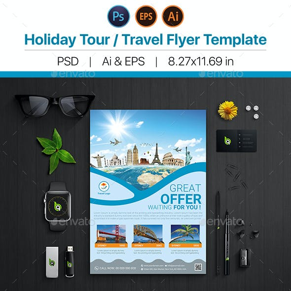 Holiday Travel / Tour Flyer Template