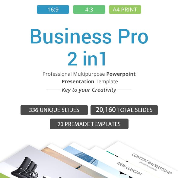 Business Pro - 2 in 1 PowerPoint Template Bundle