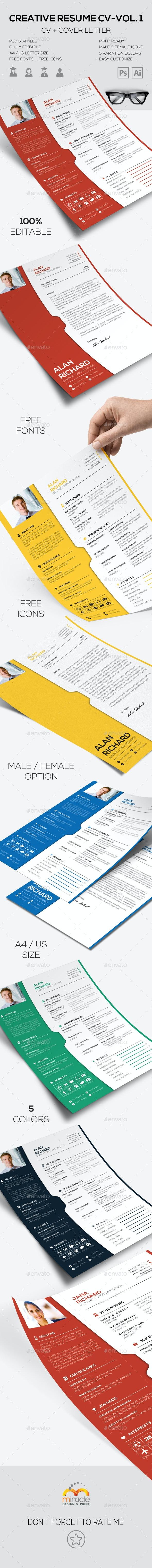 Creative Resume CV-Vol 1 - Resumes Stationery