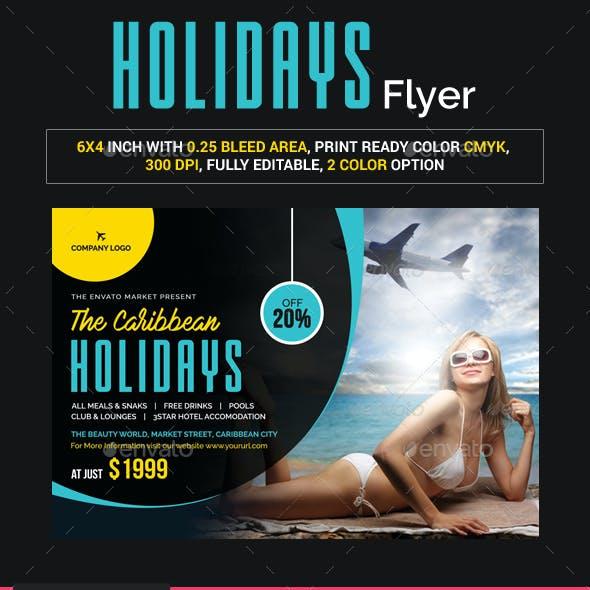 Caribbean Holidays Flyer