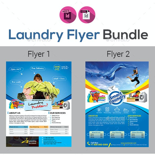 Laundry Services Flyers Templates