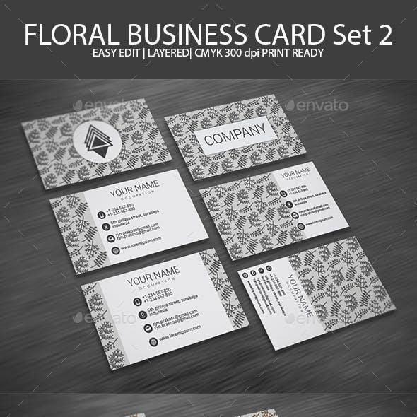 Floral Business Card Set 2