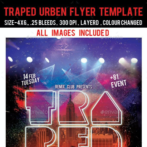 Traped Urban Flyer Template