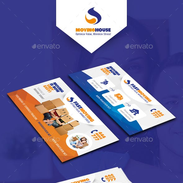 Moving House Business Card Templates