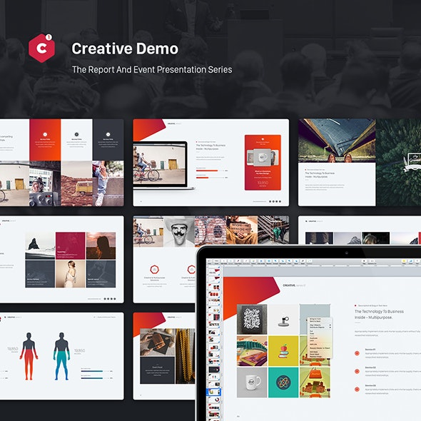 Creative Powerpoint Theme (Event & Report Theme Series) - Creative PowerPoint Templates