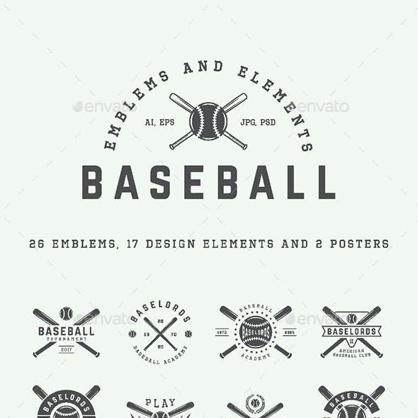26 Baseball Emblems