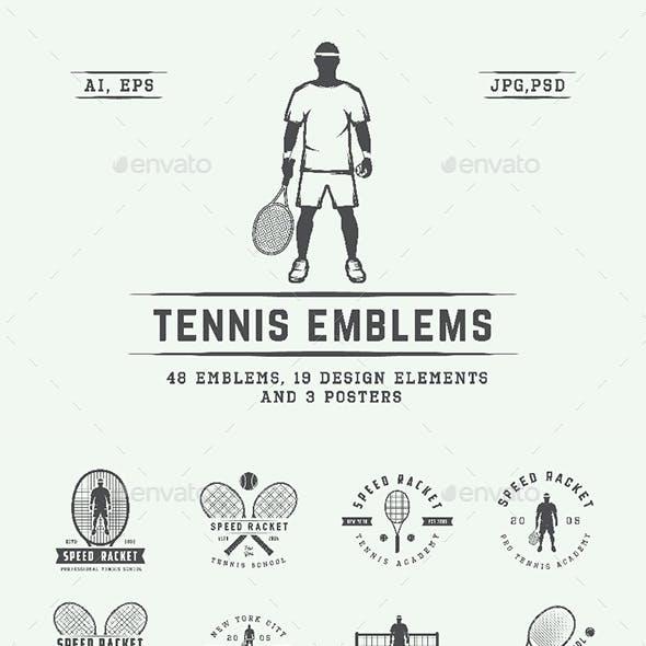 48 Tennis Emblems