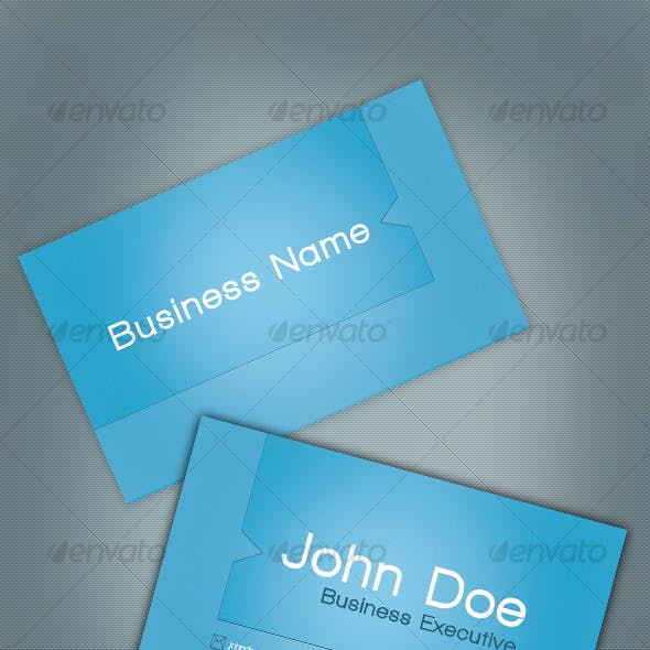 Smooth Blue Business Card