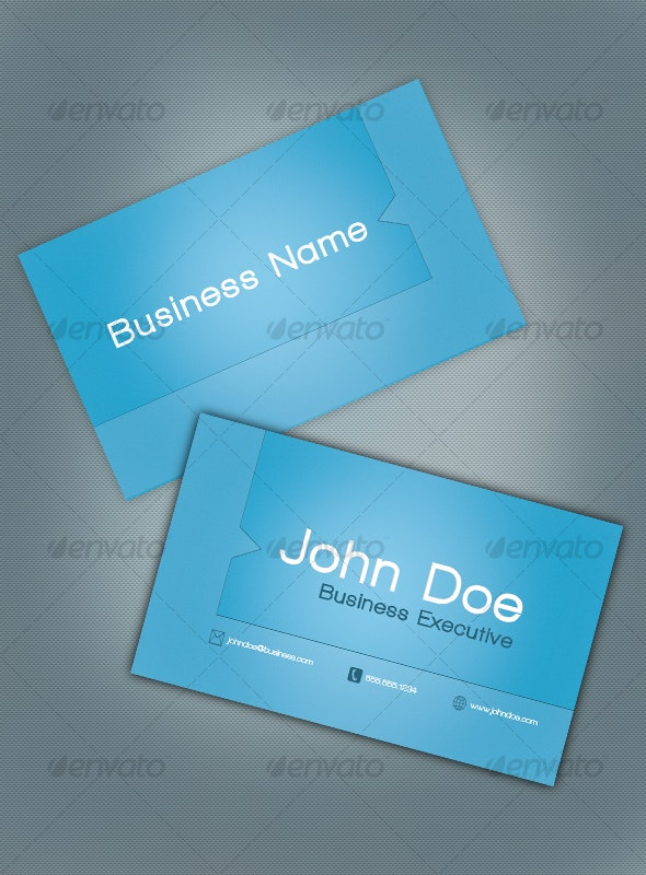 Smooth Blue Business Card - Corporate Business Cards
