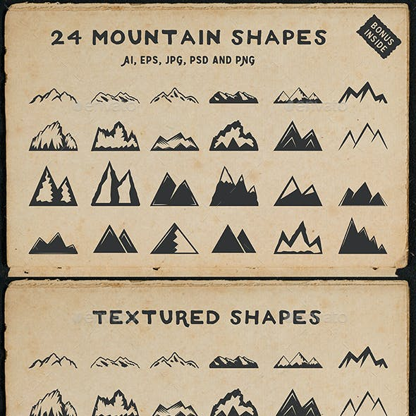 24 Mountain Shapes