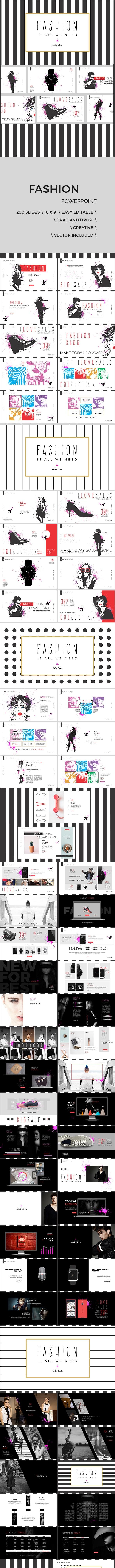 Art Fashion Powerpoint Presentation - PowerPoint Templates Presentation Templates
