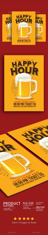 Happy Hour Beer Flyer - Clubs & Parties Events