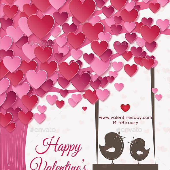 Valentines  Day Love Flyer