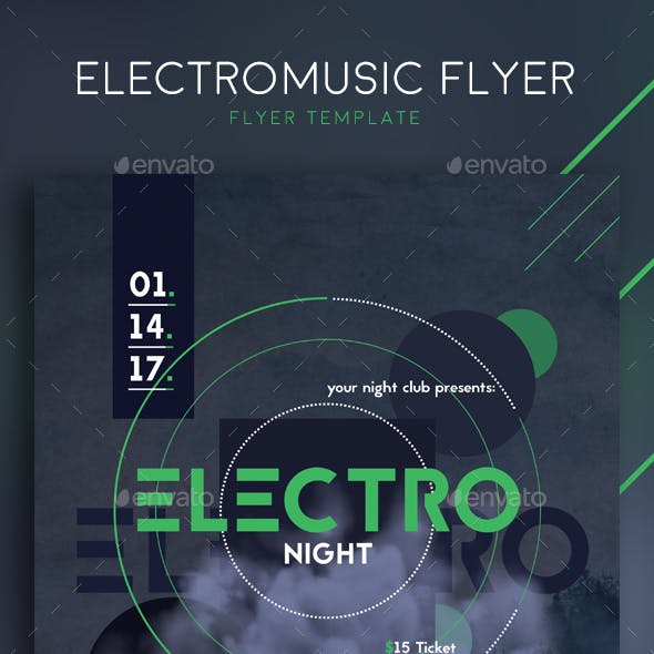 Electronic Music Flyer