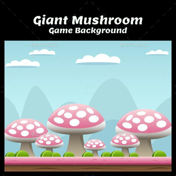Giant Mushrooms Game Background
